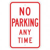 Sign No Parking Anytime 12x18
