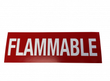 """SIGN DECAL """"FLAMMABLE"""" 12x4 RED/WHITE"""